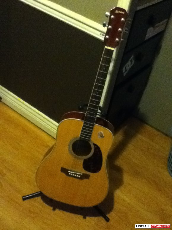 northland acoustic guitar with stand buymystuff93 list4all. Black Bedroom Furniture Sets. Home Design Ideas