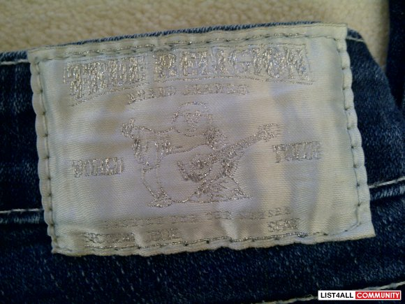 True Religion Julie Skinny Jeans w/ Pearls Size 25