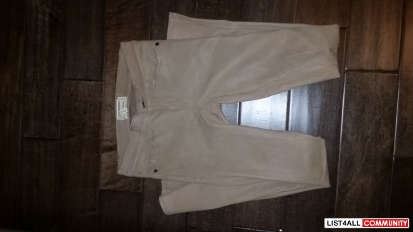 Beige Current and Ellitot REAL Leather Leggings Size 25