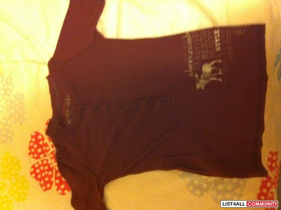 Abercrombie 1/4 Sleeve Top XS/S