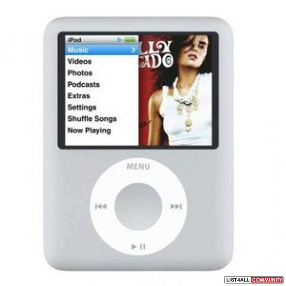 SOLD iPod Nano, 3rd gen, 4gb