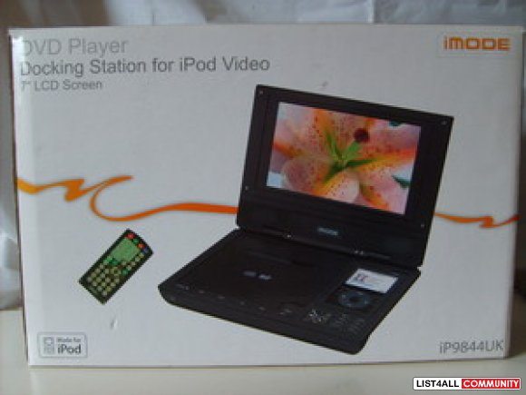 Portable DVD Player with iPod dock