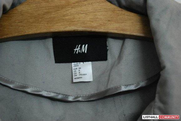 H&m Grey Bubble Jacket