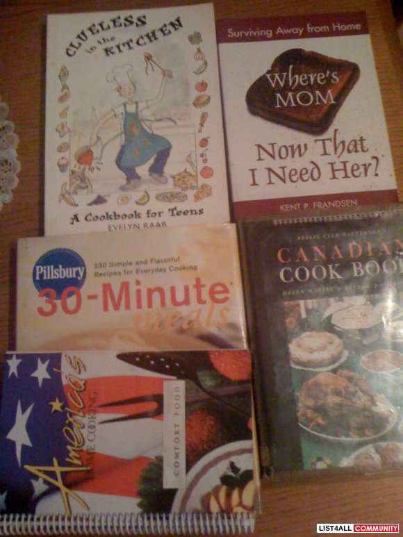 cooking books all 5 for $10