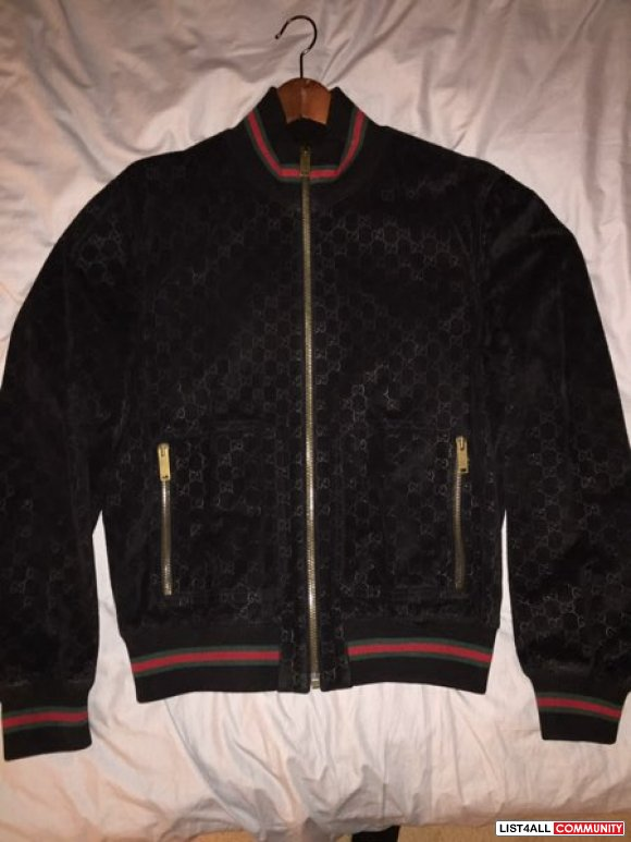 Authentic Gucci leather bomber