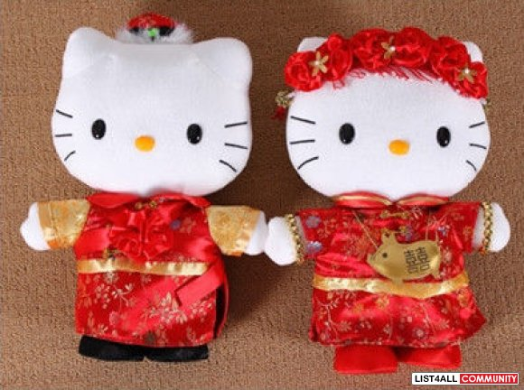 (Brand New) Hello Kitty Chinese Wedding Edition: 2 Plushies