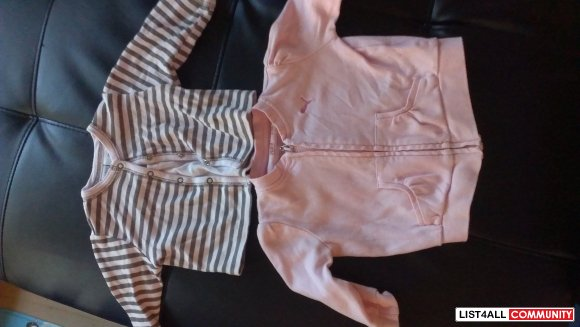 Girl's light jackets 6-9 months  - PUMA & BABY V - buy single or both