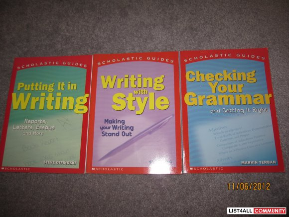 English writing books