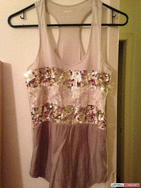 Express Sequin Racerback Tanks