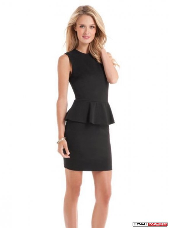 MARCIANO by Guess peplum dress, size 0