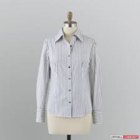 Aritzia Talula Stripe Oxford Shirt