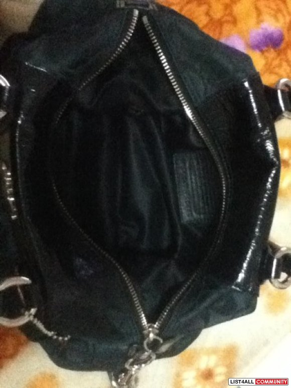 Coach Ashley Signature Sateen Satchel black authentic NOW 180