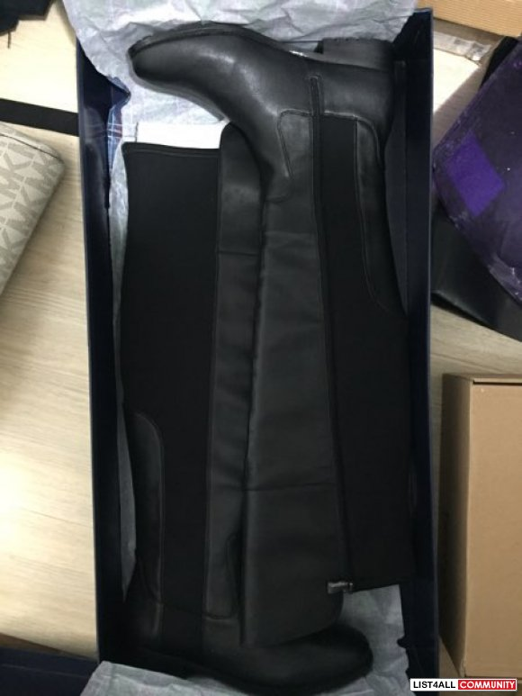 BRAND NEW black thigh high Hardy boots