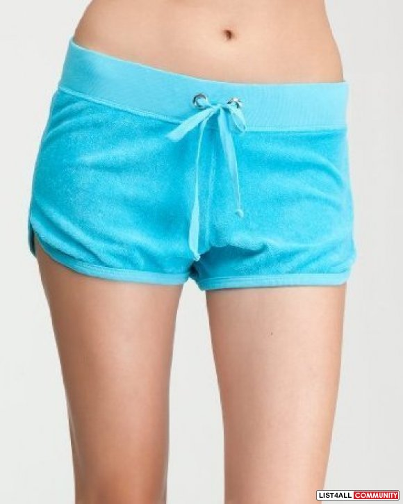 BEBE Terry Logo Shorts Skuba Blue