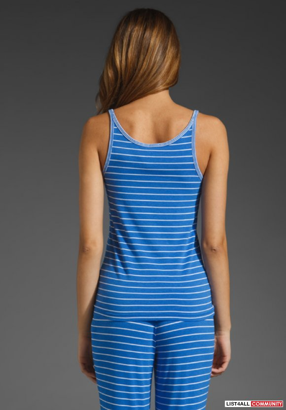 Juicy Couture Striped Tank in Lazuli
