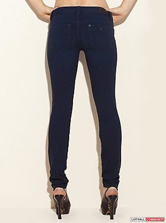 GUESS BRITTNEY KNIT PANTS - GALAXY BLUE WASH