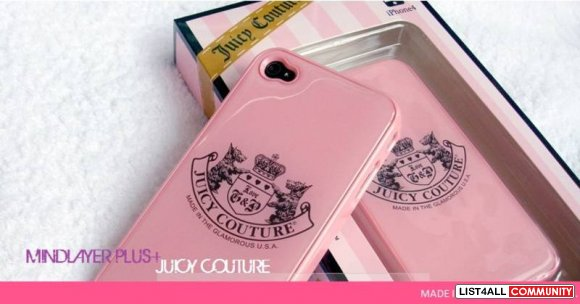 JUICY COUTURE IPHONE4/4S GLOSSY HARD CASE #1 - BABYPINK
