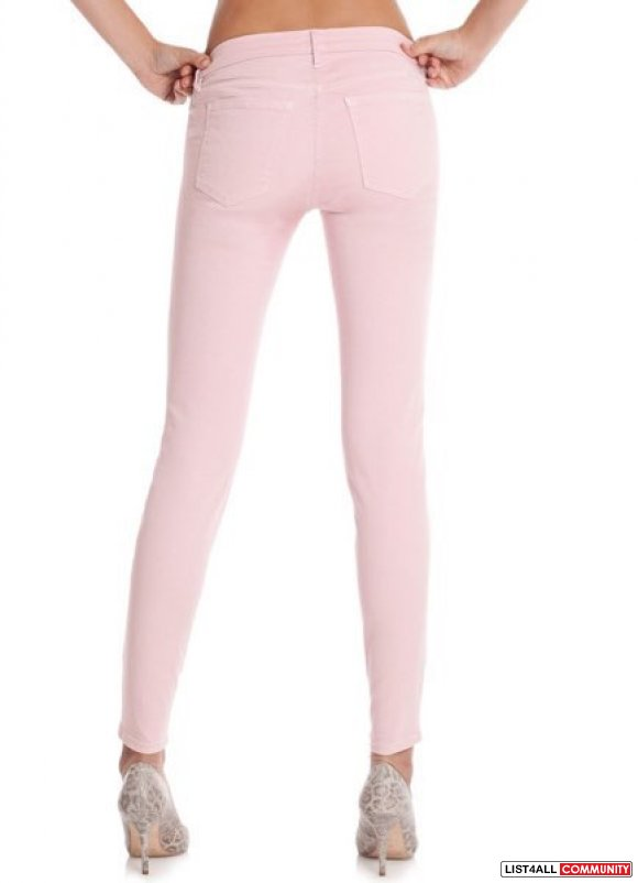 Guess By Marciano Zip Pocket Skinny -Cloudy Pink