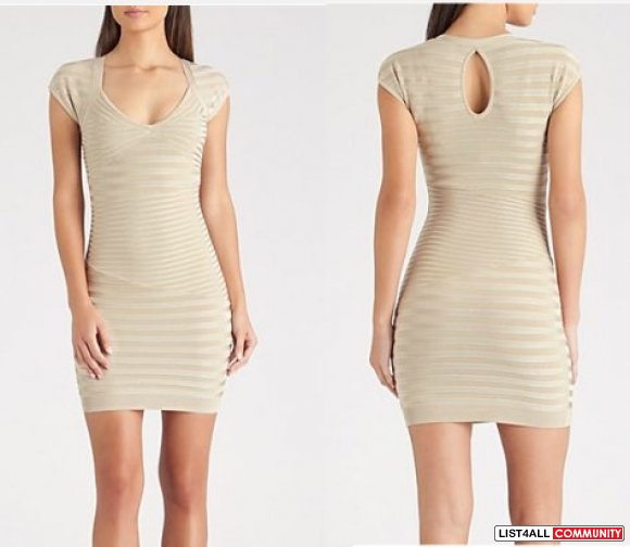 Guess By Marciano  LEAH RIBBED BANDAGE DRESS - WEB EXCLUSIVE