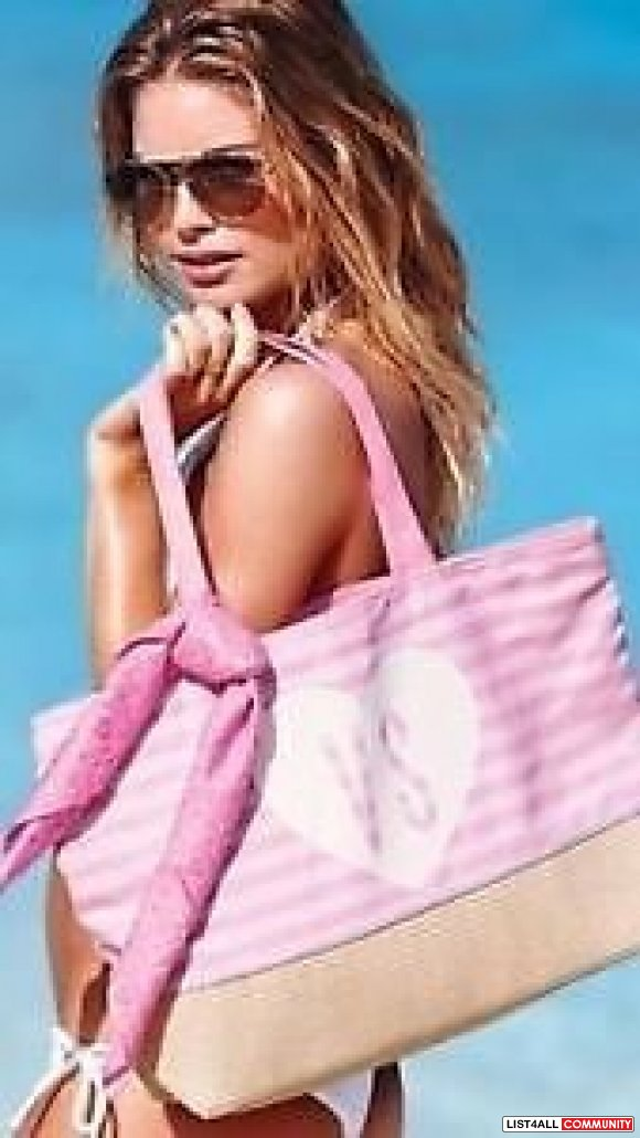 VICTORIA'S SECRET PINK TOTE & SCARF SUMMER BEACH BAG NWT Limited  Edit