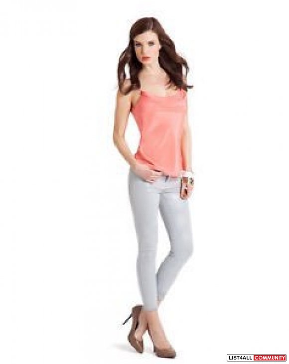 Guess By Marciano Double Layered Silk Tank