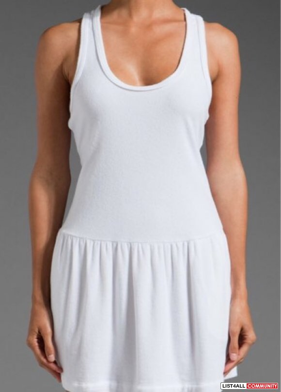 Juicy Couture Micro Terry Racerback Tank Dress in White