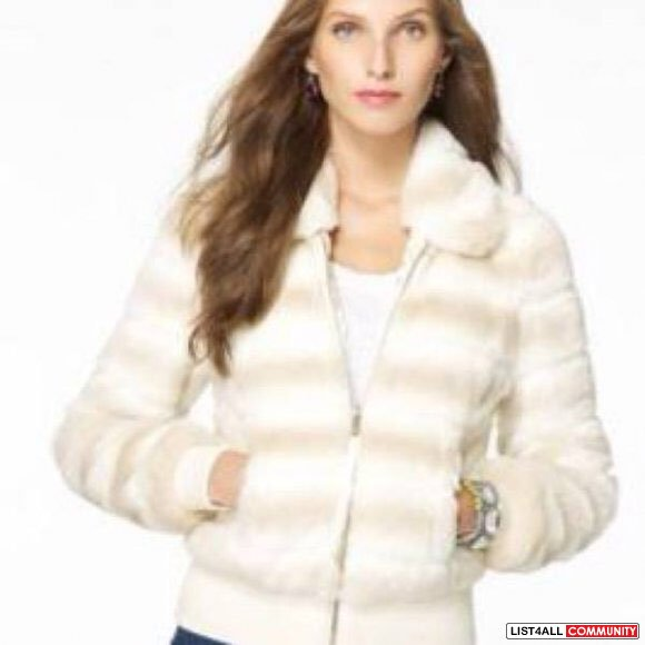 Juicy Couture Short Fur Puffer Jacket