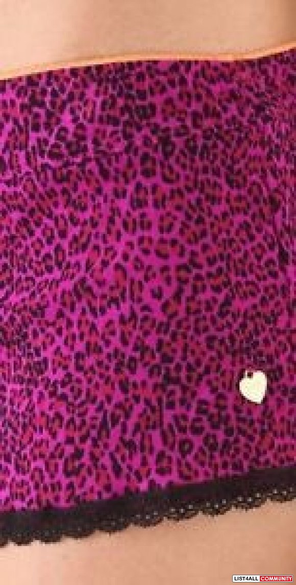 Juicy Couture  Purple Leopard Mesh Sleep Shorts
