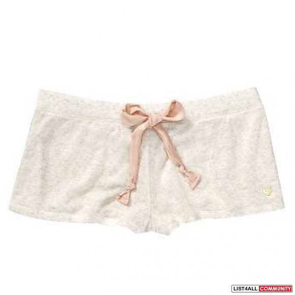 Juicy Couture Heather Oyster Short With Chiffon