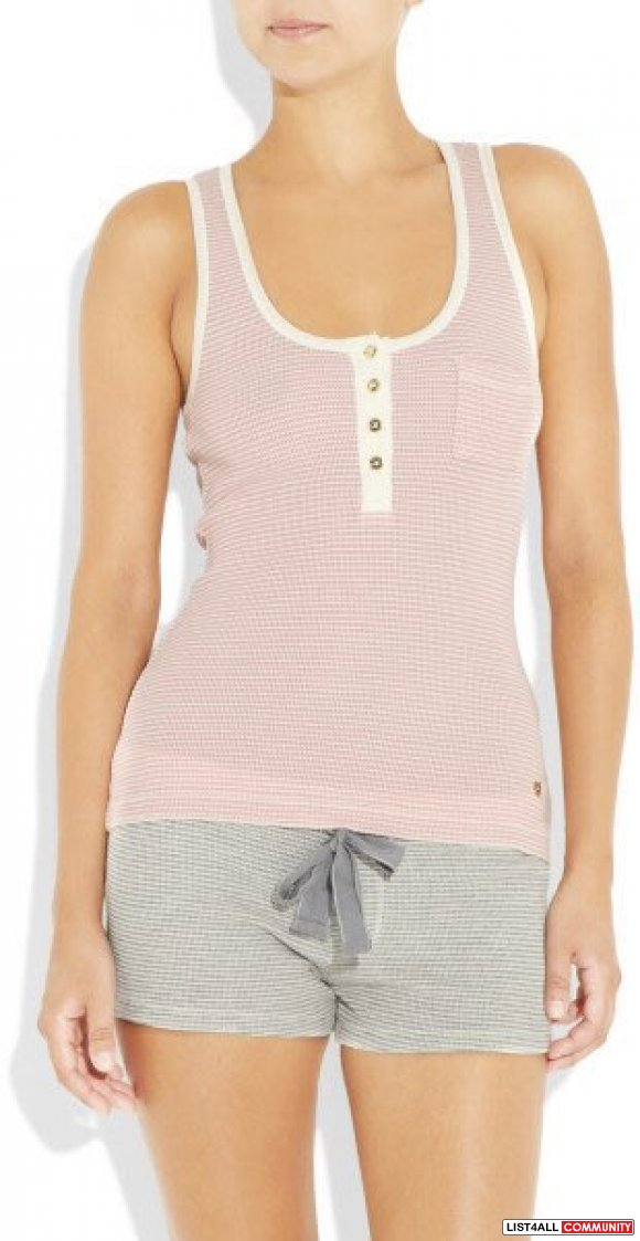 Juicy Couture Thermal Tank Gilded Rose Cotton Modal Tank Top