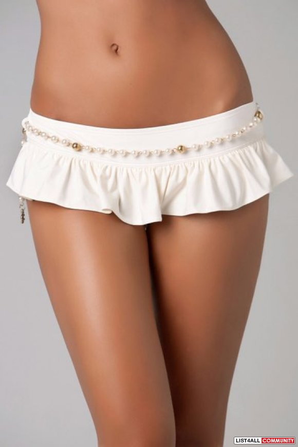 Juicy Couture MAJESTIC PEARL SKIRTED BOTTOM Swim