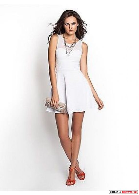 GUESS Textured Flare Dress NEW (S)