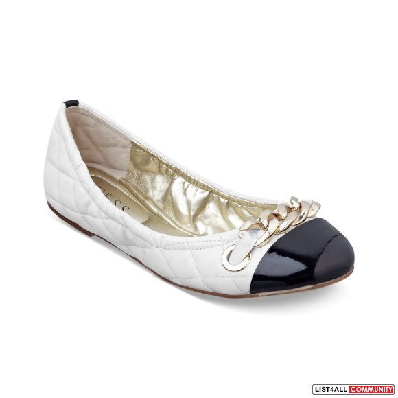 Guess White Womens Shoes Fetoni Quilted Ballet Flats
