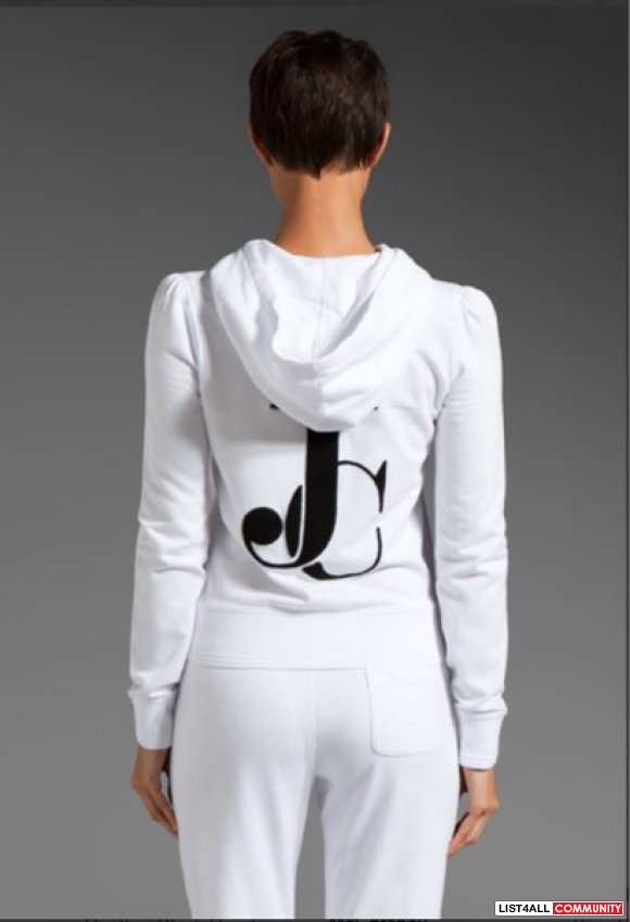 Juicy Couture Puff Sleeve Zip Hoodie