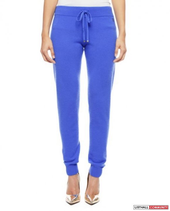 Juicy Couture SLIM CASHMERE TRACK PANT
