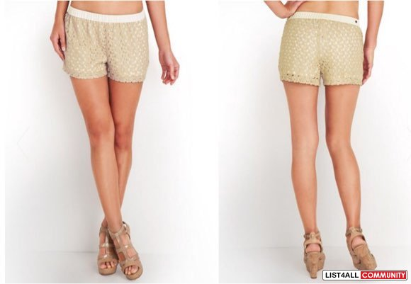 Guess Shimmer Crochet Shorts