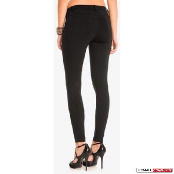 GUESS BY MARCIANO Penza High-Waist Five-Pocket Legging, BLACK