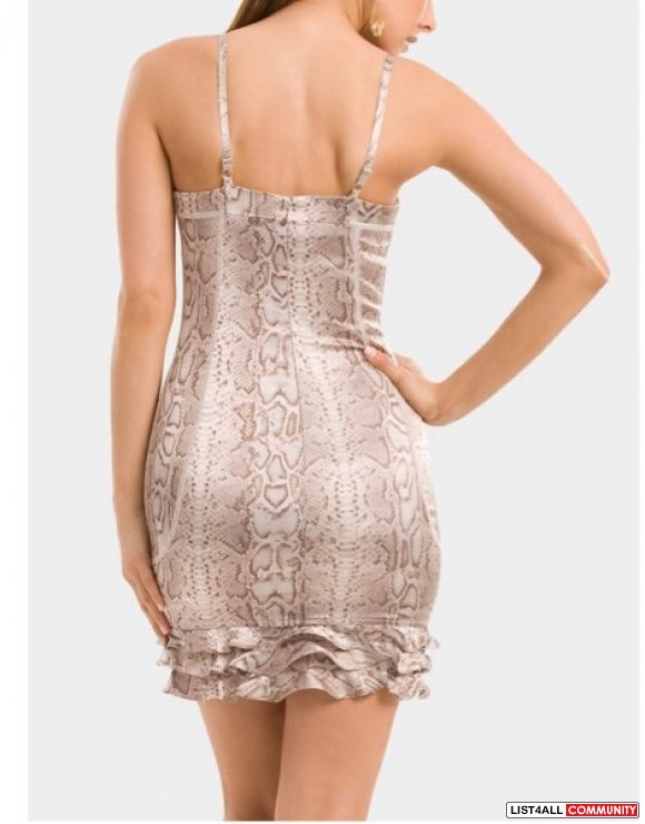 Guess By Marciano SNAKE CORSET DRESS