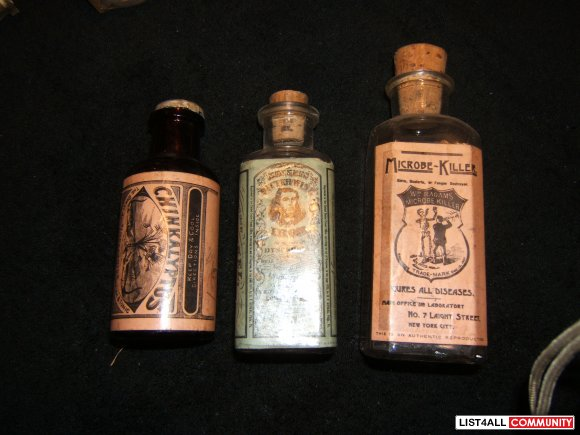 Vintage Assorted Bottles - 5.00 ea or all 3 for 10.00