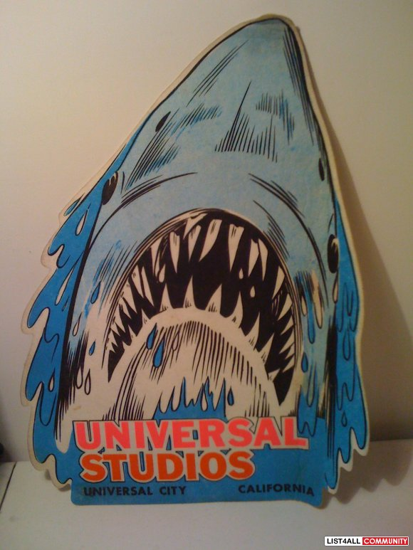 JAWS Wall Penant - direct from Universal Studios back in the 80's
