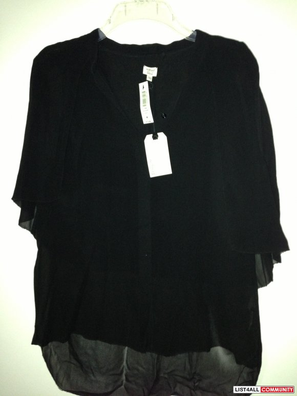Silk Sleeveless Blouse - Black