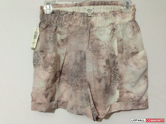 Cannes Silk High Waisted Shorts - Snakeskin