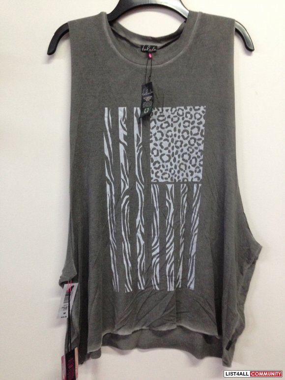 Animal Print Tank - Dark Grey