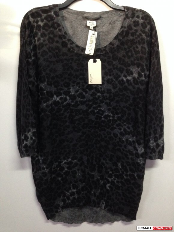 Balzac Sweater - Black Leopard