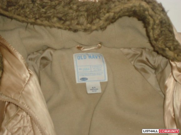 Gold Girl's Old Navy Jacket