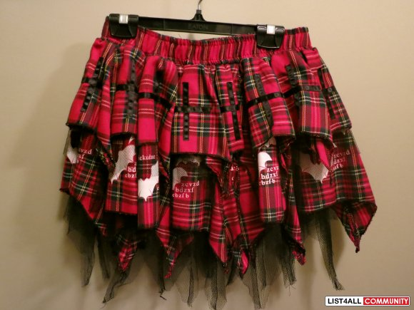 Rocker school girl skirt