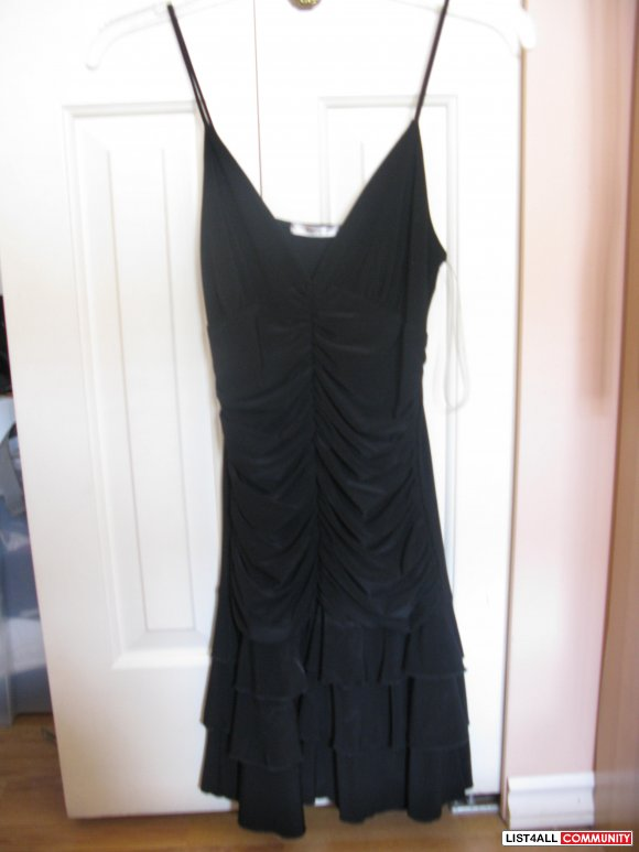 TIGHT FITTING BLACK DRESS - FITS S