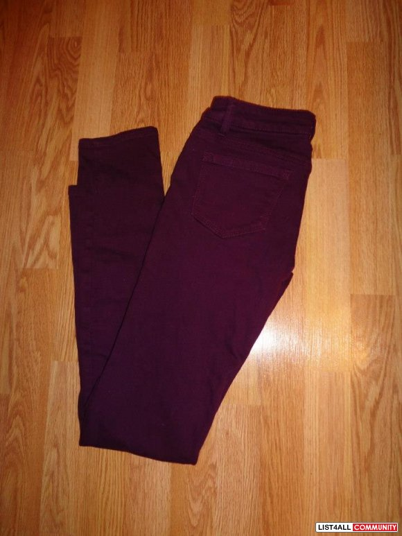 PURPLE FOREVER 21 SKINNY JEANS - SIZE 25