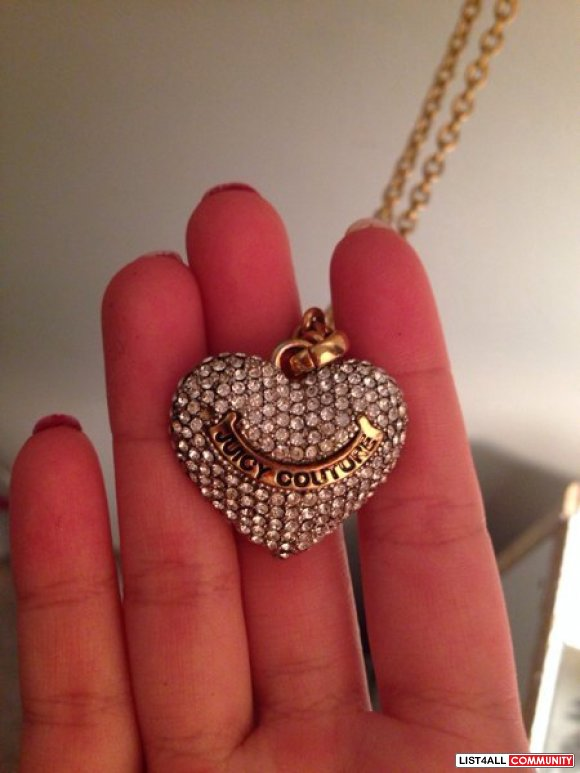 Juicy couture long heart necklace