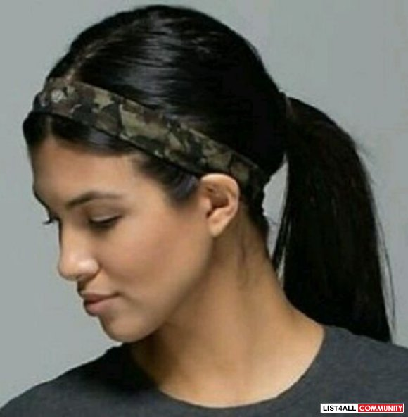 Lululemon black thin head band